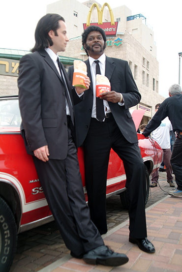 pulp fiction Travolta and Samuel Jackson